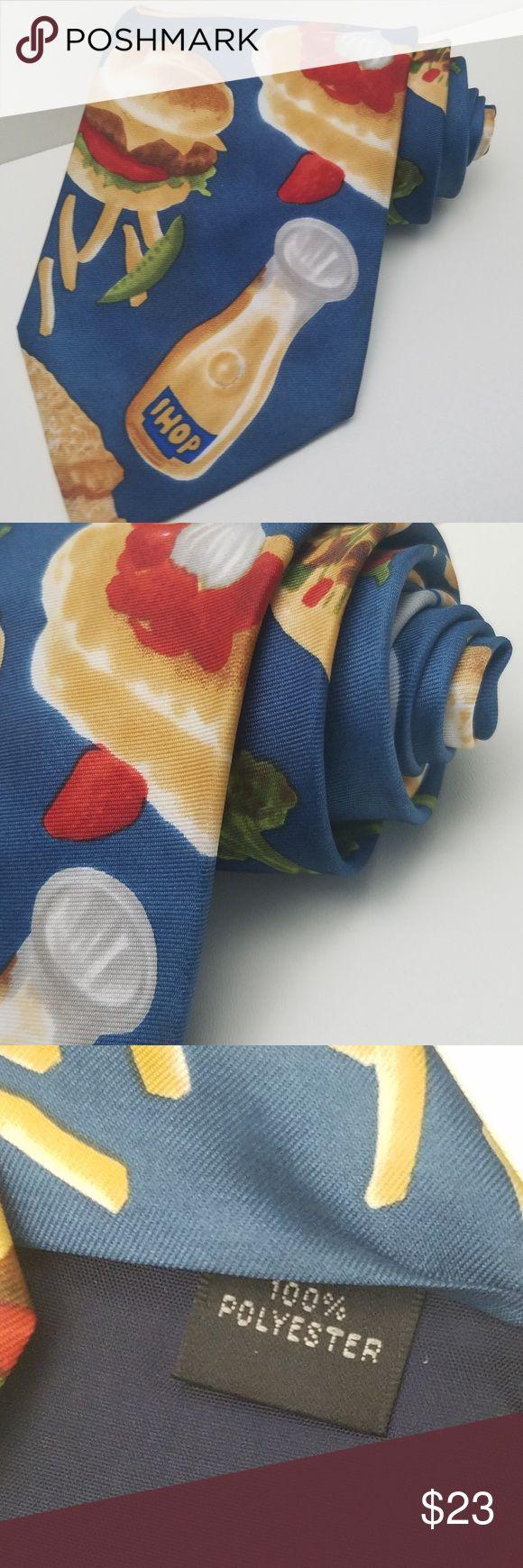 Vintage Ihop Server Novelty Tie Blue/Food Vintage Ihop Server Novelty Tie Blue/Food   Anthony ~polyester Accessories Ties