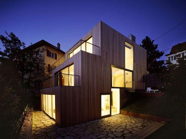 Leibal - Haus am HangInnovation Architecture, Ecofriendly Architecture, Mvrdv Architecture, Mvrdv Architectshaus, Architecture Inspiration, Architecture Wood, Modern Architecture House, Architects Mvrdv, Modern House