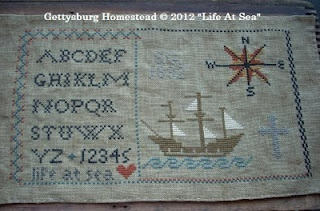 "Gettysburg Homestead ""Life At Sea"" pattern now available."