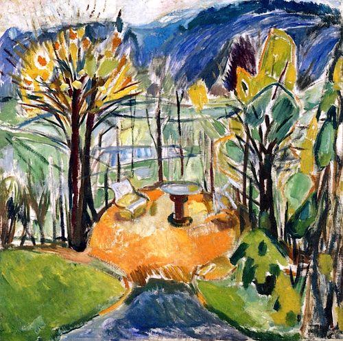 The Arbor in Late Autumn  Edvard Munch - 1926-1930