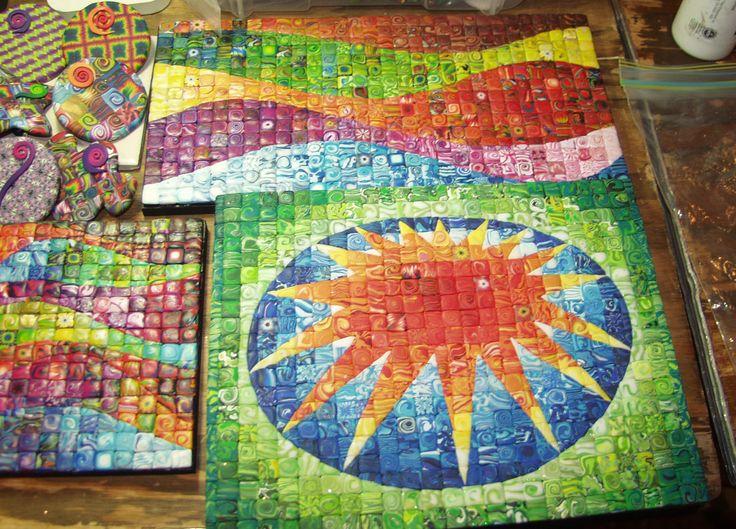 Millefiori-type mosaic pictures http://newfry.typepad.com/.a/6a00d83454fdbd69e20120a4c4fc7e970b-pi
