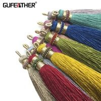 GUFEATHER L67/10cm/jewelry accessories/accessories parts/jewelry findings/Silk Tassel/diy accessories/hand made/ 2pcs/pack