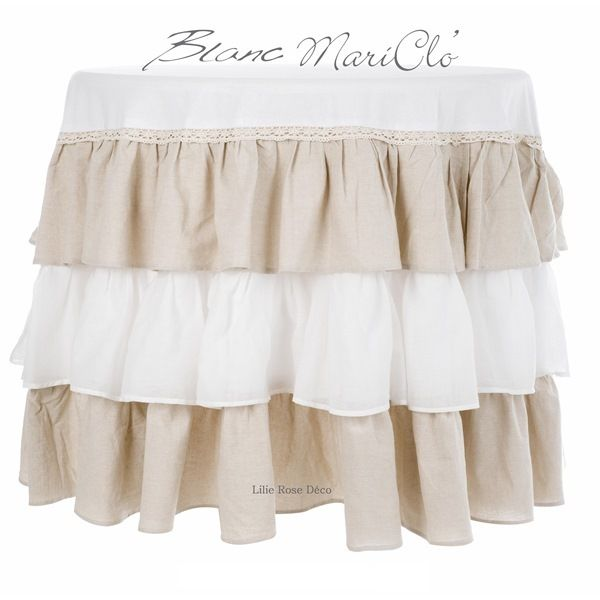 Nappe ronde froufrou Blanc Mariclo Blanc Mariclo                                                                                                                                                                                 Plus