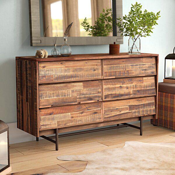 Amari 6 Drawer Double Dresser In 2020 Double Dresser Dresser Scandinavian Dresser
