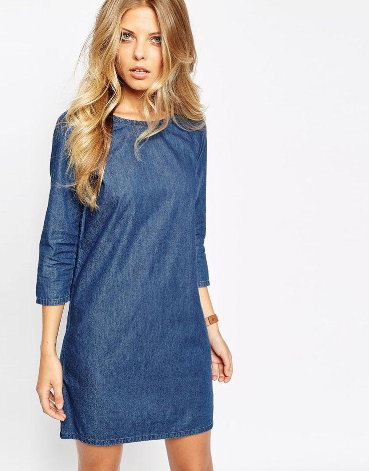 Image 1 ofVila Denim Shift Dress