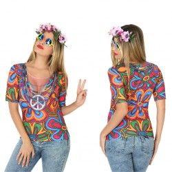 #Disfraz #Camiseta #Hippie 3D para Mujer #Divertida #camiseta en #3D, en tan solo segundos estarás listo para ir de fiesta sin necesidad de comprar accesorios estas camisetas lo llevan todo. En #mercadisfraces tu tienda de #disfraces #online disponemos del mayor stock en #disfraces #originales y #disfraces baratos para tus fiestas.