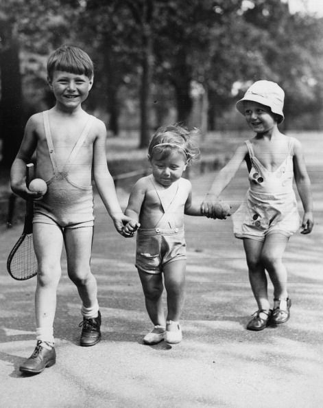 Three children in Hyde Park, London, c1940. (Photo by Imagno/Getty Images) #london #war #East_End