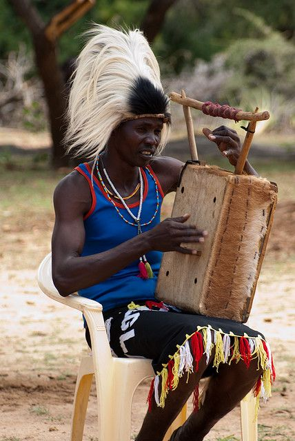 This is a nyatiti. It is a classical instrument played by the Luo people of Western Kenya, typically in Benga music.