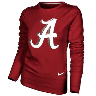 Nike Alabama Crimson Tide Ladies Crimson Excel Pullover Crew Sweatshirt