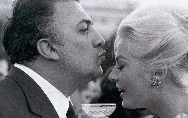 Fellini and Anita Ekberg