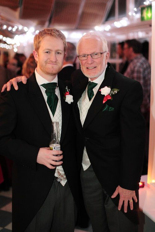 The groom and his new father in law
