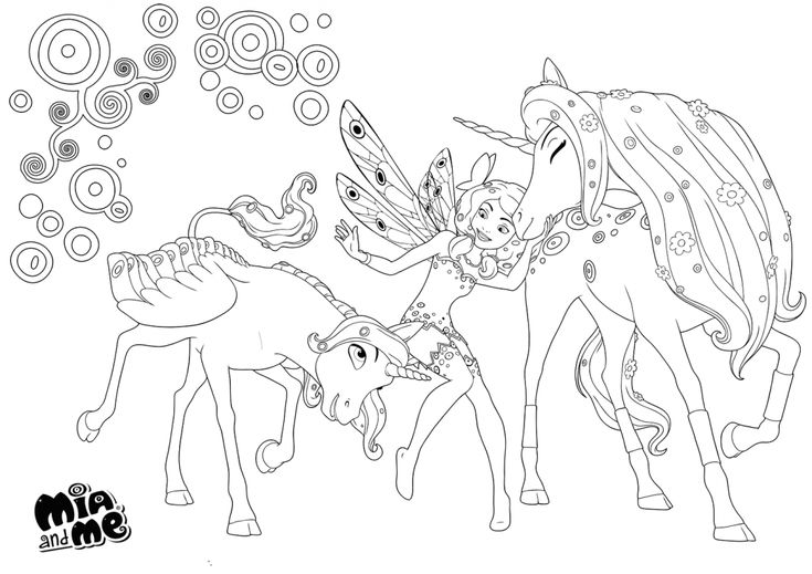 mia and me coloring pages  unicorn coloring pages