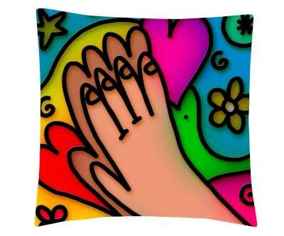 Funny Hand Printed Cushion Cover & Cushion Fillers.