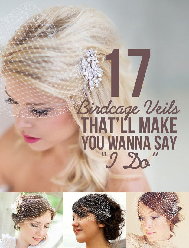 "17 Birdcage Veils That'll Make You Wanna Say ""I Do"""