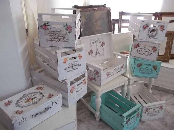 Cajon Al Estilo Shabby Chic-decoracion- Vintage - $ 290,00 en MercadoLibre