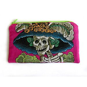 LA CATRINA Makeup Bag - Day of the Dead - Jose Posada - School Supply Pouch