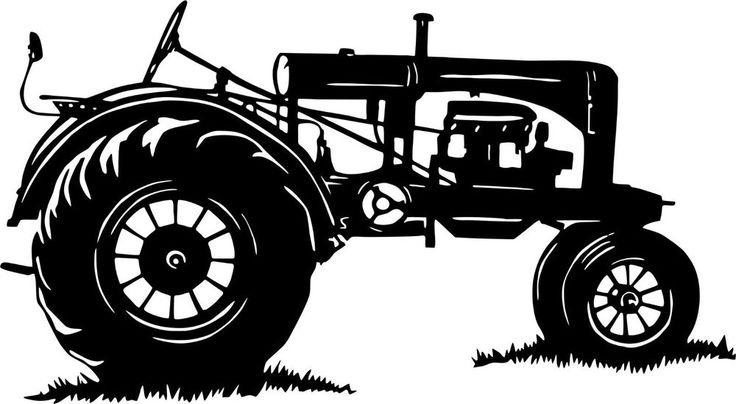 Antique Tractor Silhouette : Les meilleures images du tableau dentelle de bois et