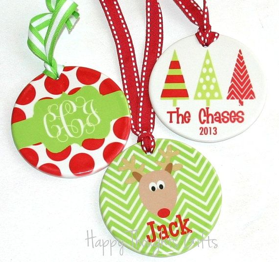 Monogrammed Christmas Ornament - Personalized Ornament - Custom Ornament - Holiday Designs on Etsy, $28.00
