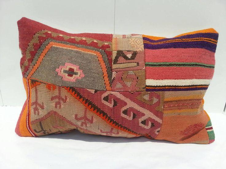 Handmade Kilim lumbar,16x24 inches, Kilim Pillow Lumbar, Living Room Decoration,Wool Cushion Cover,Handmade Decorative Turkish Kilim Pillows by Simavrug on Etsy