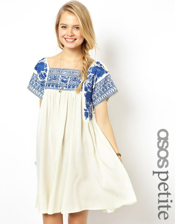 Embroidered Swing Dress