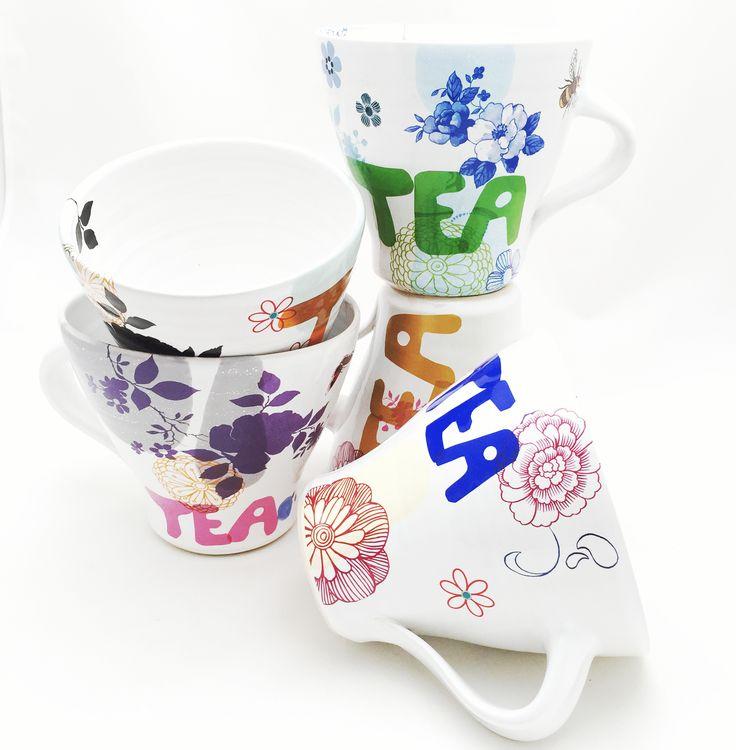 generous ceramic teamugs decals and dots Heidi Hirengen