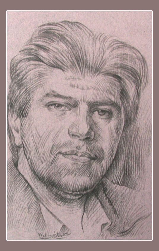 self portret - drawing pencel