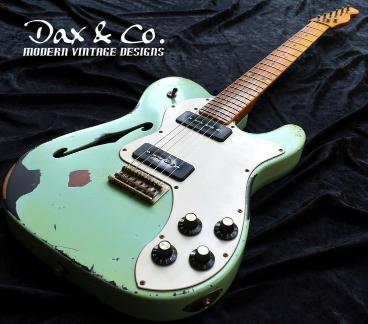 Fender Thinline Telecaster Dax&Co. Relic! Surf Green over | Reverb