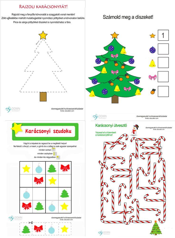 Karácsonyi feladatlapok | Down Egyesület