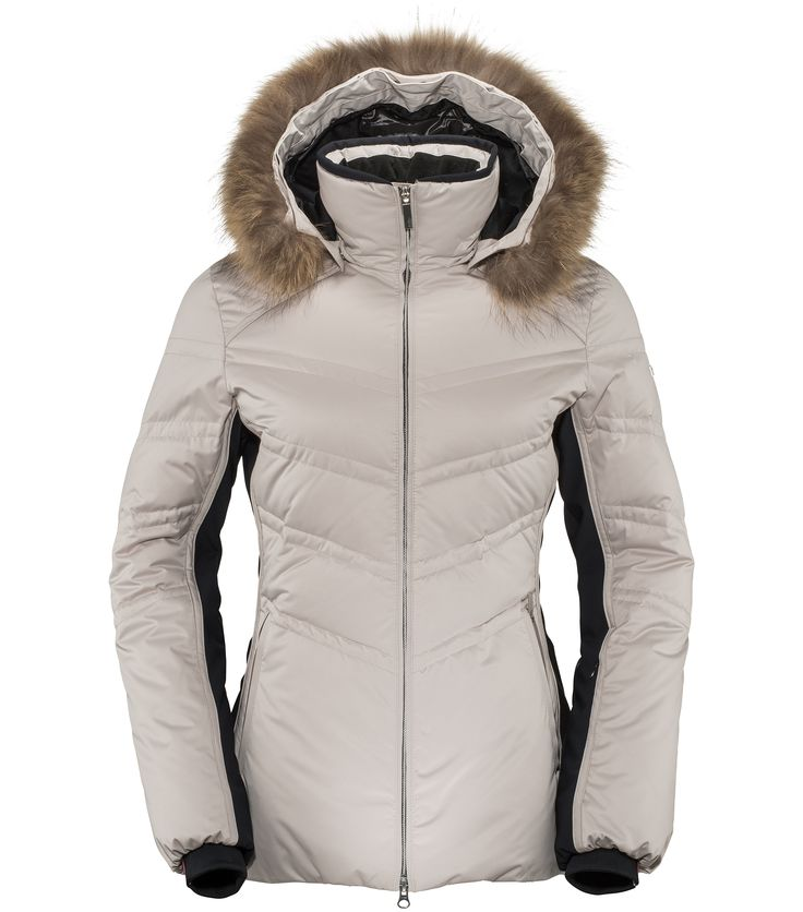 Killy Chic Jacket (Champagne) £549 faux fur. Highly feminine and flattering, the Chic Jacket is the perfect ski jacket for stylish and sophisticated women. Stretchy softshell side panels on the arms and waist will slim your figure, whilst provide easy range of movement. With a beautiful faux-fur trim on the hood and high quality duck down insulation, this is Killy's premier jacket.