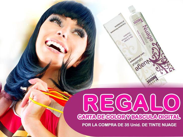 TINTE NUAGE SIN AMONIACO  compra 35 unidades de tinte, regalo carta de color y bascula digital. Vigente hasta finales de mayo 2015 http://www.beticolor.com