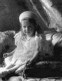 *GRAND DUCHESS: Anastasia Nikolaevna of Russia:  June 5, 1901 - July 17, 1918 Youngest daughter of Nicholas II
