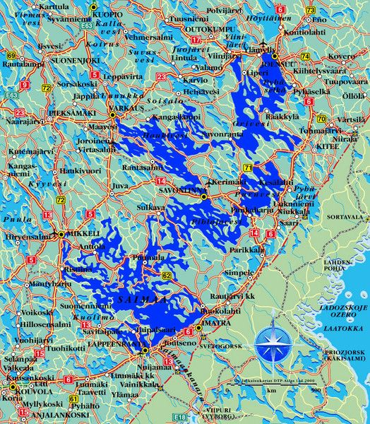 Saimaa Finalnd Map