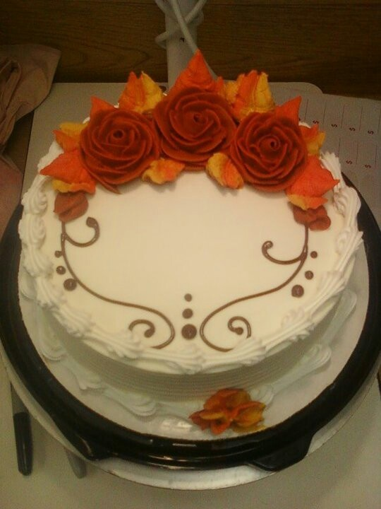 Dairy Queen Cake Fall flowers
