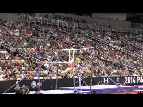 Veronica Hults – Uneven Bars – 2014 P&G Championships – Sr. Women Day 2 - YouTube