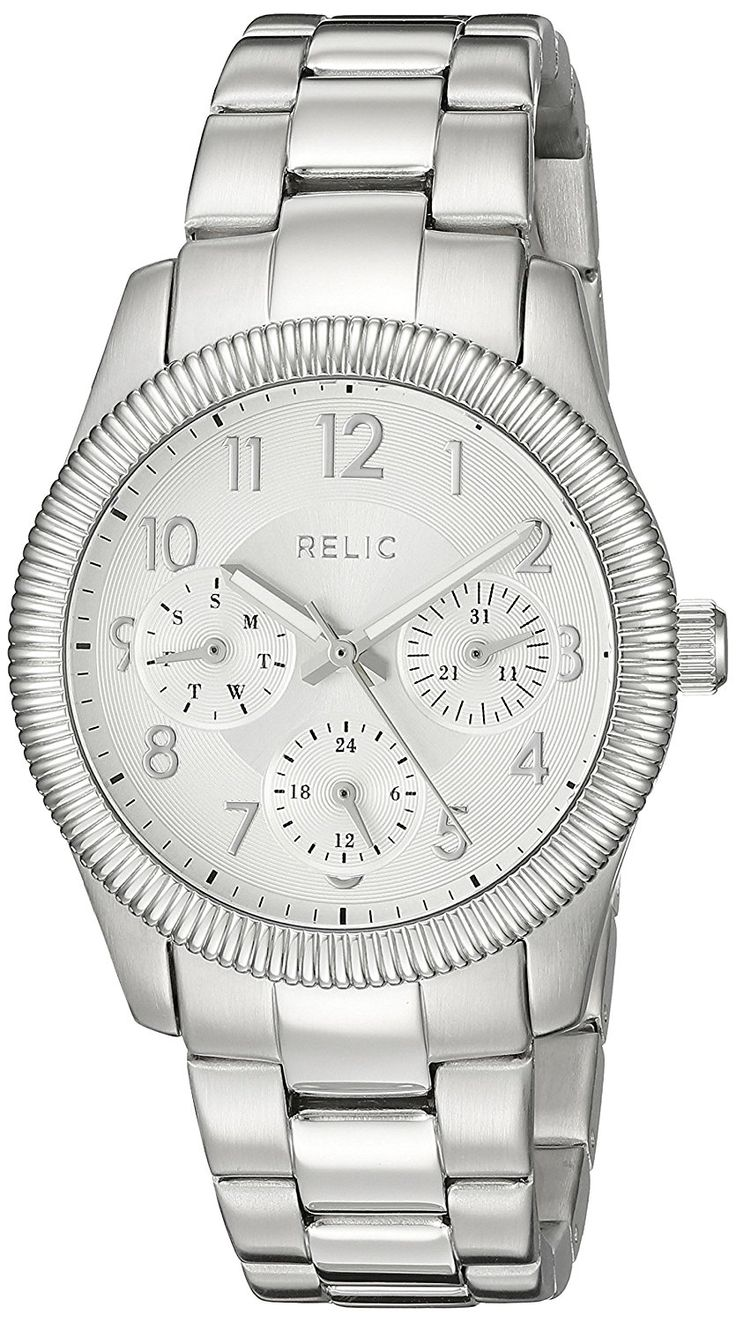 Relic Women's ZR15815 Kendra Analog Display Analog Quartz Silver Watch ** More info could be found at the image url.
