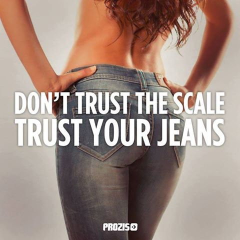 trust your jeans ... not the scale