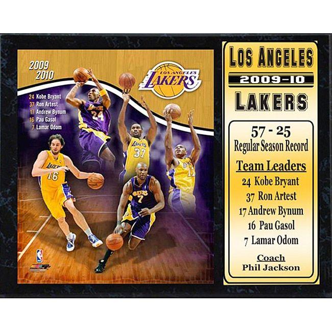 Encore Select NBA 2009-10 LA Lakers Stats Plaque