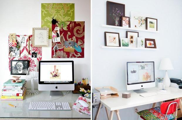 escritórios pequenos: Desks Area, Pequeno Escritório, Escritórios Pequenos, Para Pequeno, Small Offices, Frames Decor, Offices Ate, Escritório Pequeno, Home Offices