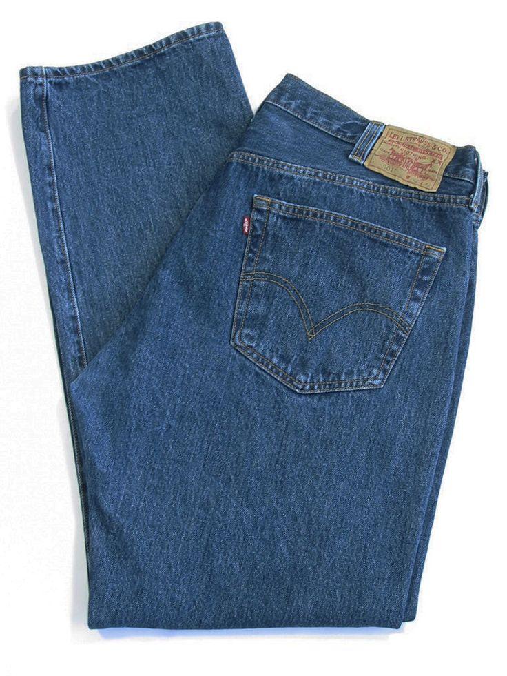 LEVI STRAUSS 501 Jeans Pants Mens Straight Leg Button Fly Dark Blue Size 40 x 32 #Levis #ClassicStraightLeg