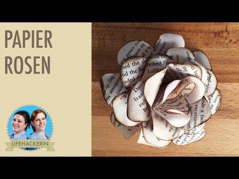 Papier Blumen DIY Tutorial   Paper Roses - YouTube