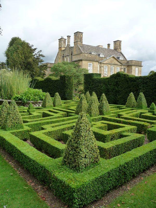 Bourton House, the Knot Garden, Bourton on the Hil...