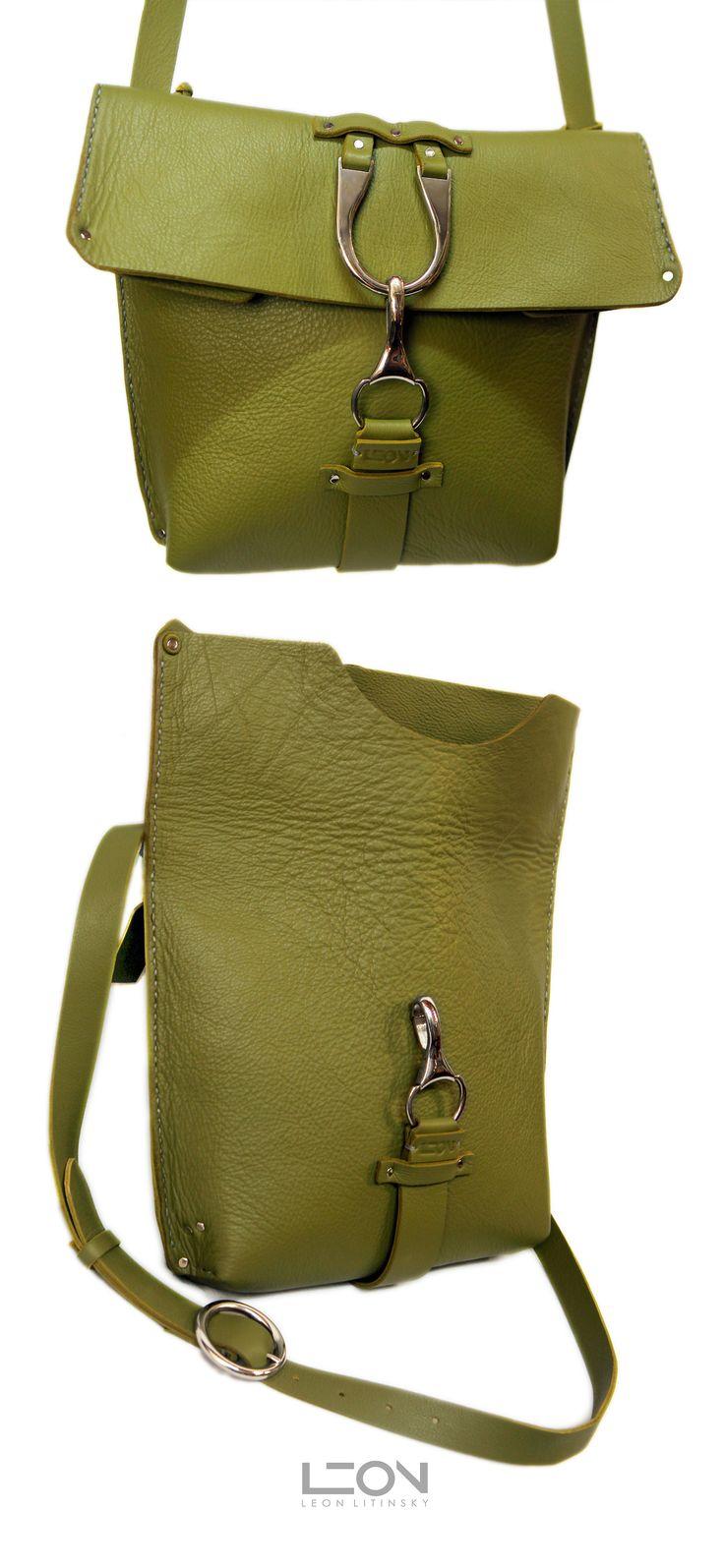 Green Leather Bag by Leon Litinsky Handmade Handbags & Accessories - http://amzn.to/2iLR27v