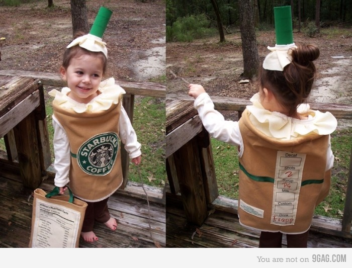 """Starbucks frappuccino- awesomely creative. """"I'm sweet, and I wake you up!"""""""