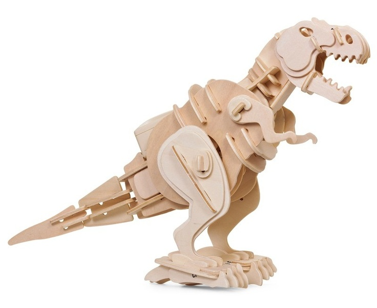 This robotic t-rex senses movement and lets out a mighty roar when there's someone nearby. Assemble this quirky model project to guard your desk in style. No glue required!