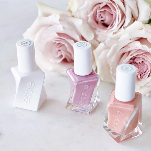How pretty are the new essie gel couture polish bottles?! They mimic the twist and twirl of a dress.