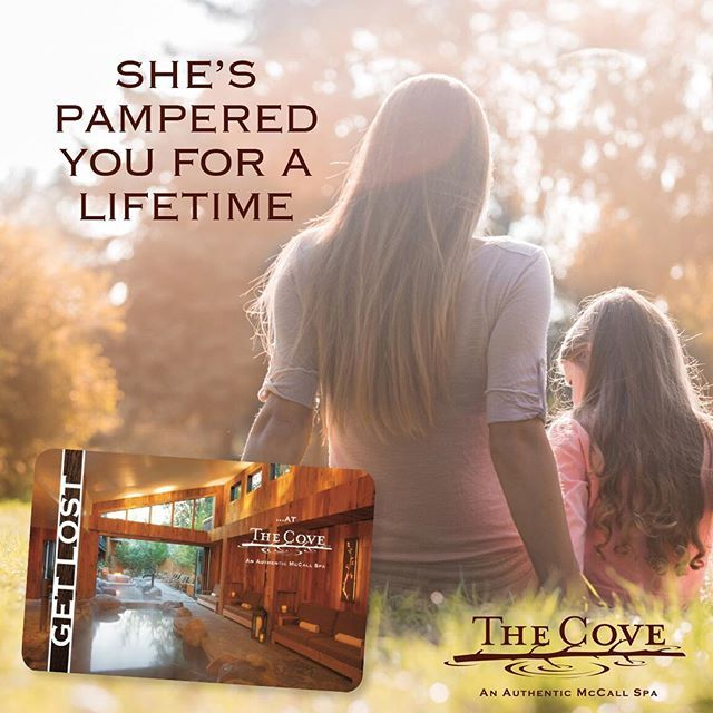 """Celebrate mom with luxurious treatments and """"just-what-I-wanted"""" gift cards at The Cove! #SpaDay #McCallIdaho"""
