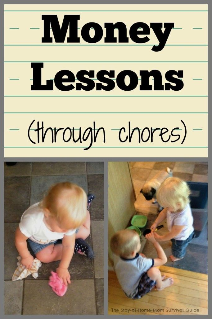 You can teach children  important money lessons using chores-some chores are paid and some are not. Great to start teaching lessons of hard work and responsibility plus earning. Links to money management for kids as well.