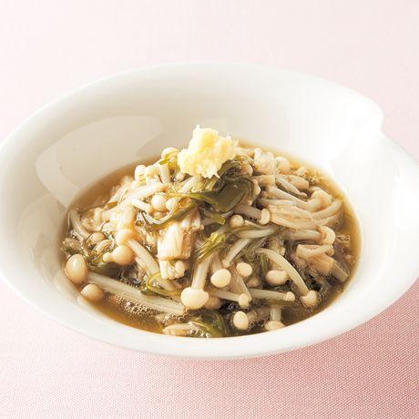 えのきとめかぶのさっと煮   伊藤朗子さんの小鉢の料理レシピ   プロの簡単料理レシピはレタスクラブニュース