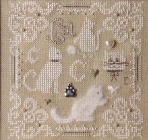 C is for Kitty Cat Teenie - Cross Stitch Kit