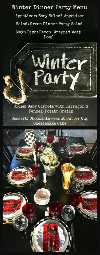 Diy Dinner Party Ideas Part - 28: Complete Menu For A Cozy Winter Themed Dinner Party + Decor And Activity  Ideas. Recipes